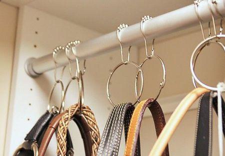 8deb6cce0f Hang handbags on shower curtain rings via Handbag.com