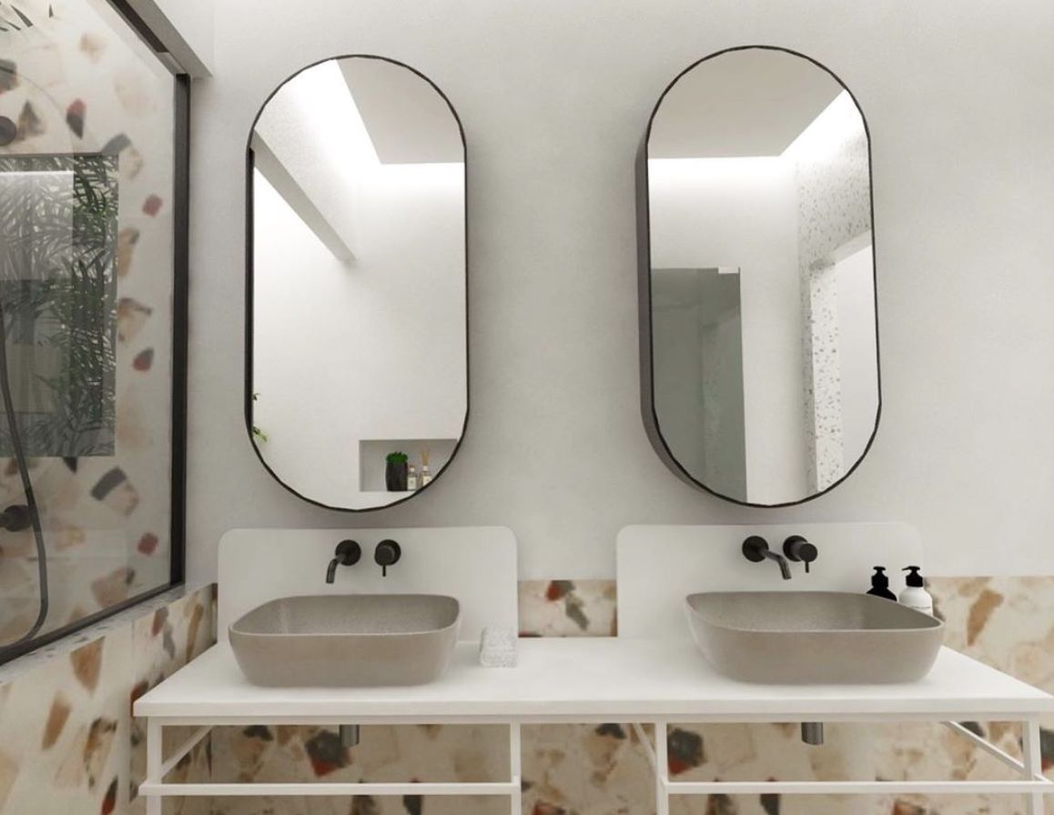 double sink in a bathroom