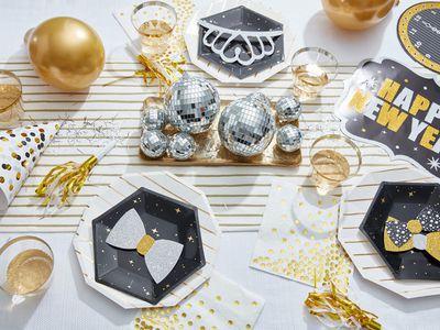 New Year's Eve celebration decor