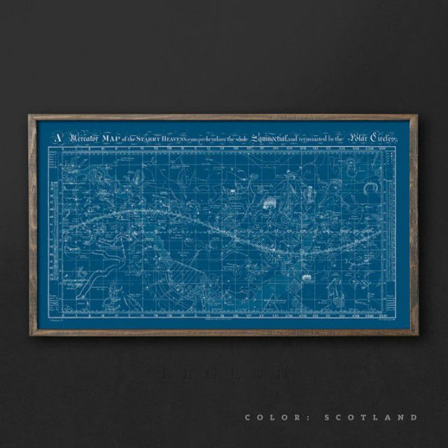 Vintage Map of the Universe, Star Map, Celestial Chart, Constellation Guide, Night Sky Map, Constellations Map, Astrology Print, Astronomy