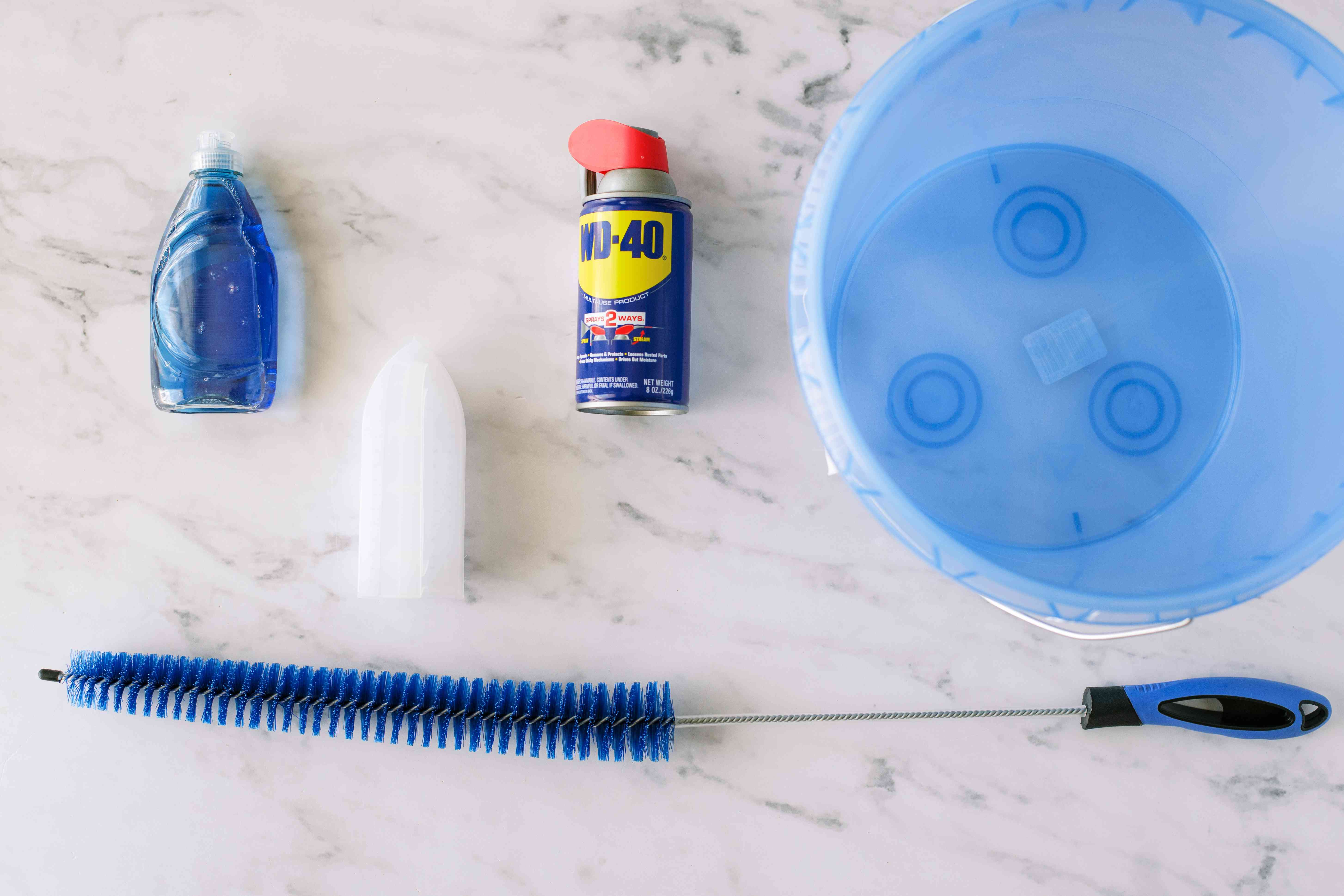 Materials and tools to clean an outside dryer vent