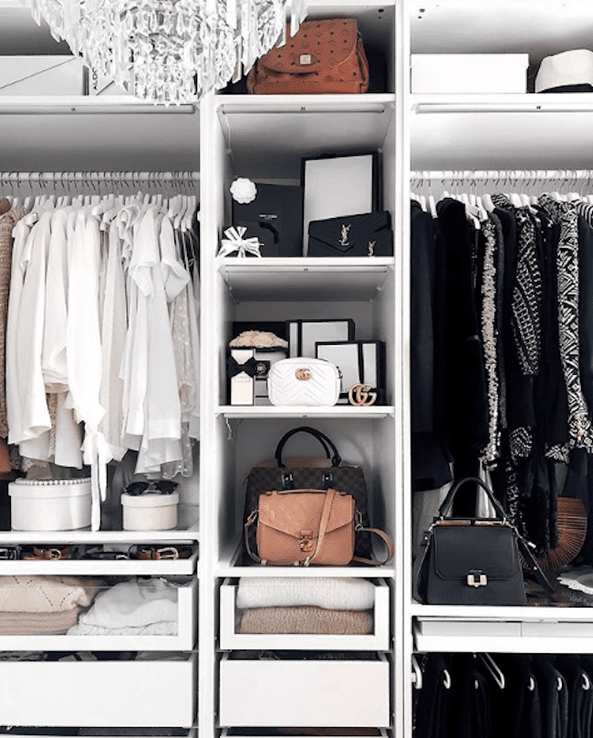 a well designed closet