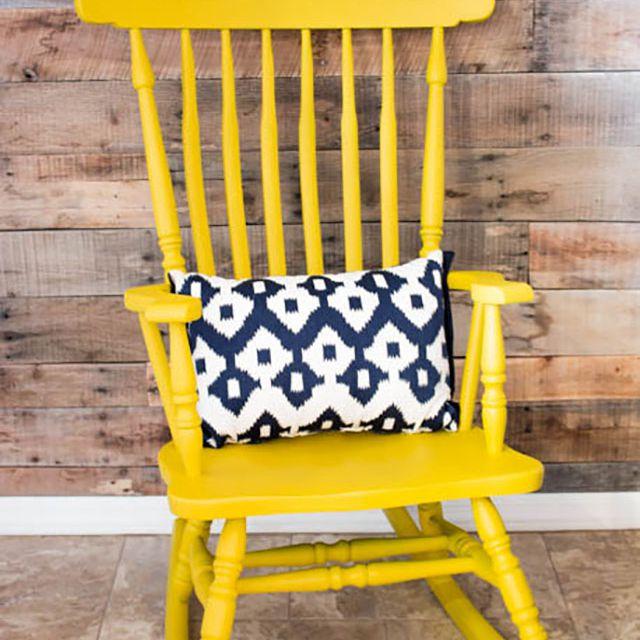 chalk paint rocking chair
