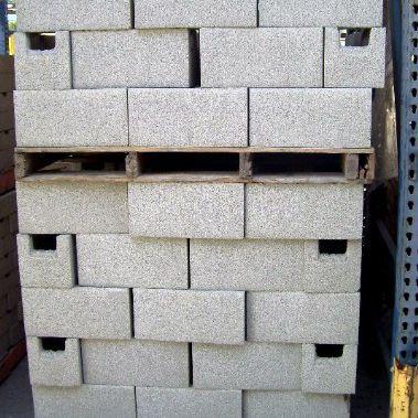 pallet of concrete blocks