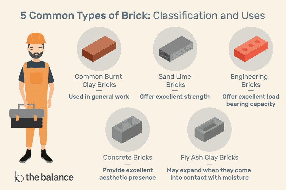 common types of brick infographic
