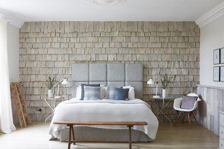 Rustic Wood Shingle Feature Wall