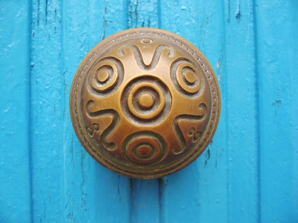 Close-Up Of Ornate Doorknob