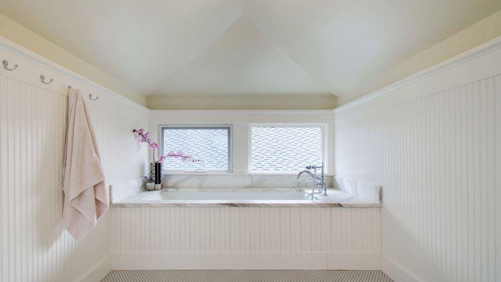 attic bathroom beadboard tub