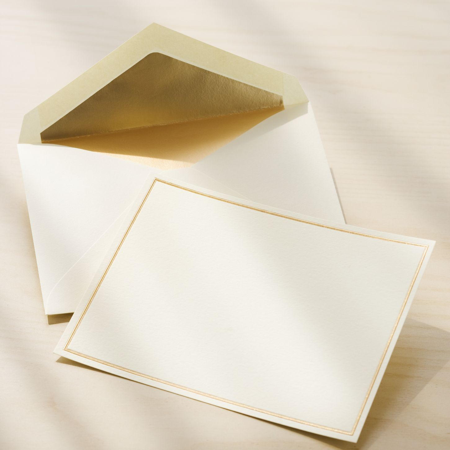 Lovely blank card and envelope