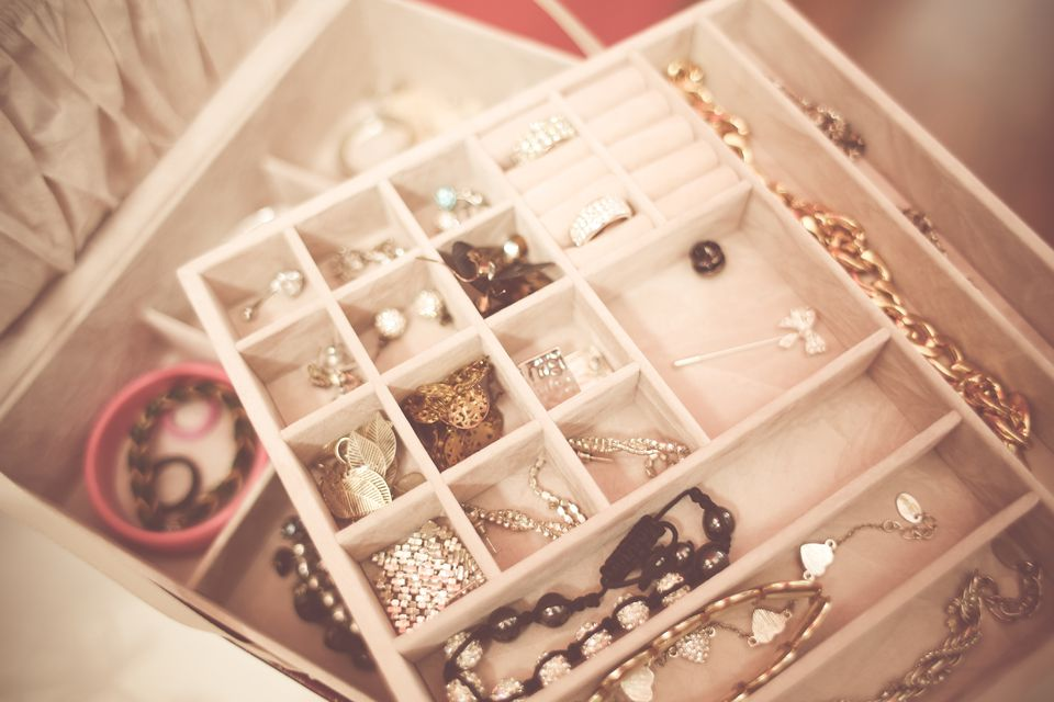 Jewelry in jewelry box