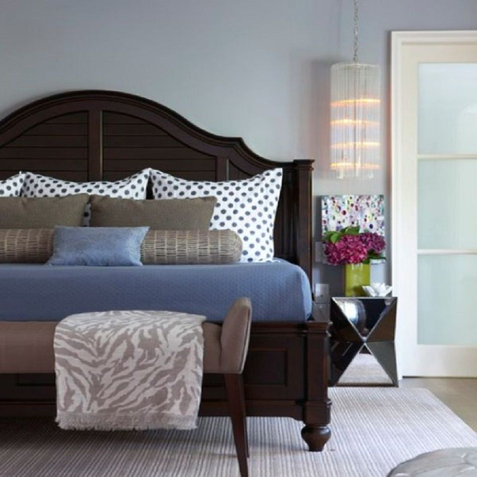 Eclectic bedroom with gorgeous bed