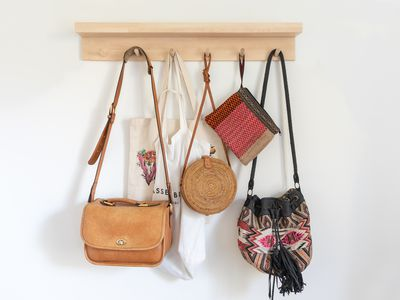 handbags on a multihook fixture