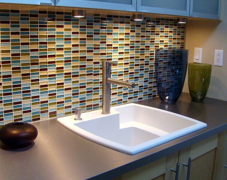 Bathroom Mosaic Tile Backsplash