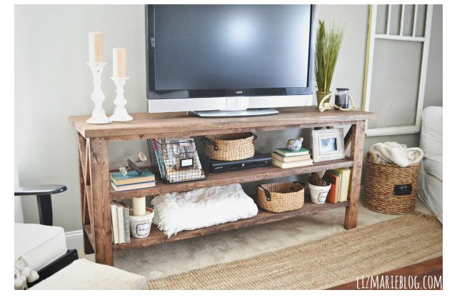 7 Ways To Make Your Own Tv Stand To Hide Ugly Cable Boxes And Wires