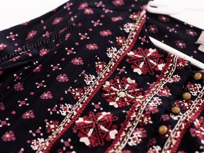 closeup of a beaded blouse