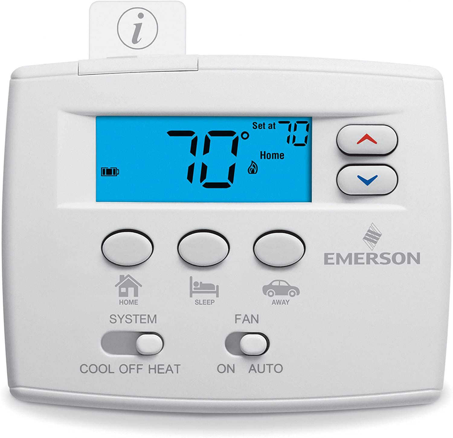 Emerson Blue Easy Set Non-Programmable Thermostat