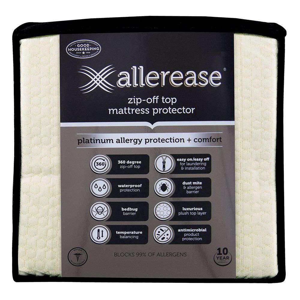 AllerEase Zip-Off Top Mattress Protector