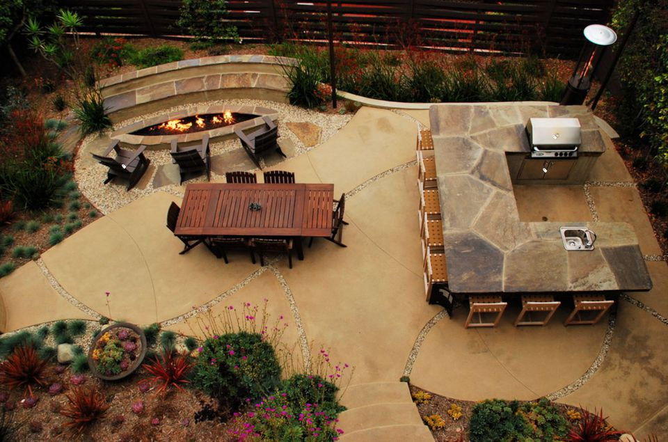 15 Beautiful Concrete Patio Ideas And Designs