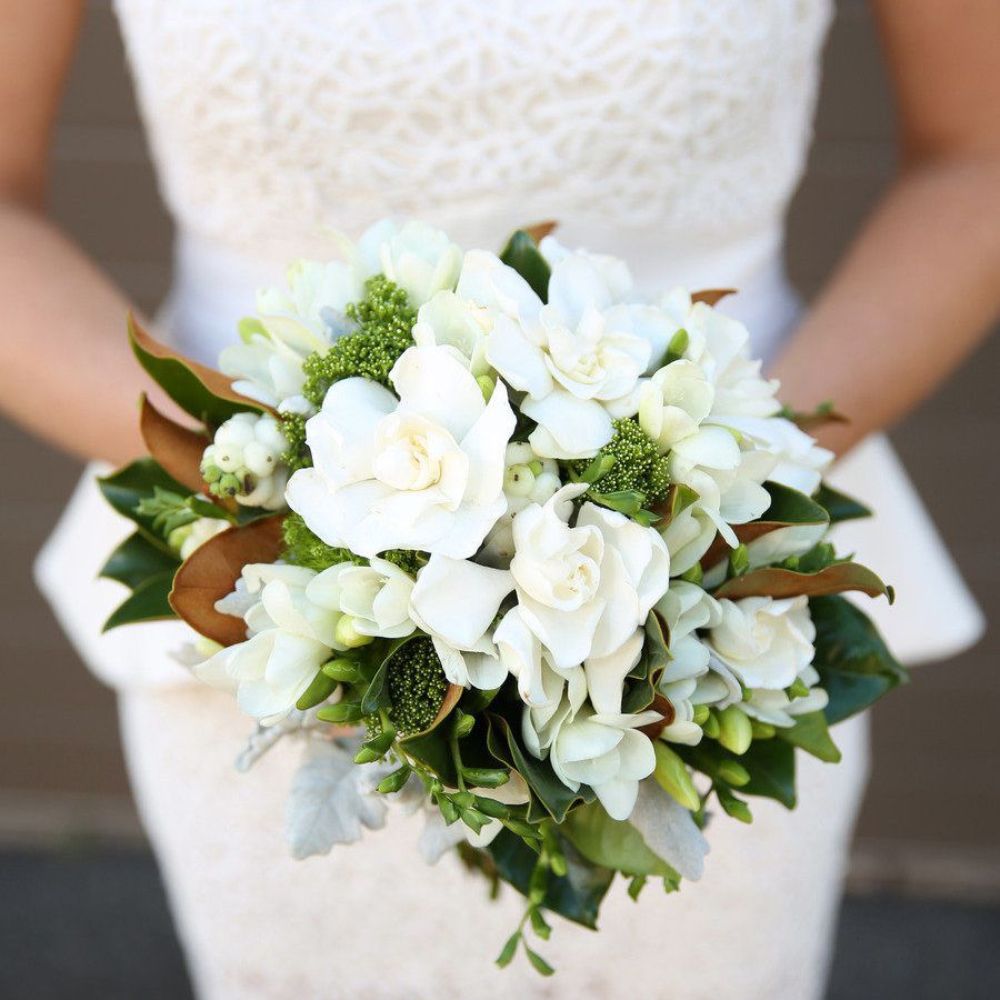 Gardenia Winter Wedding Bouquet