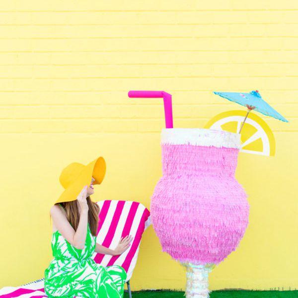 tropical drink glass piñata