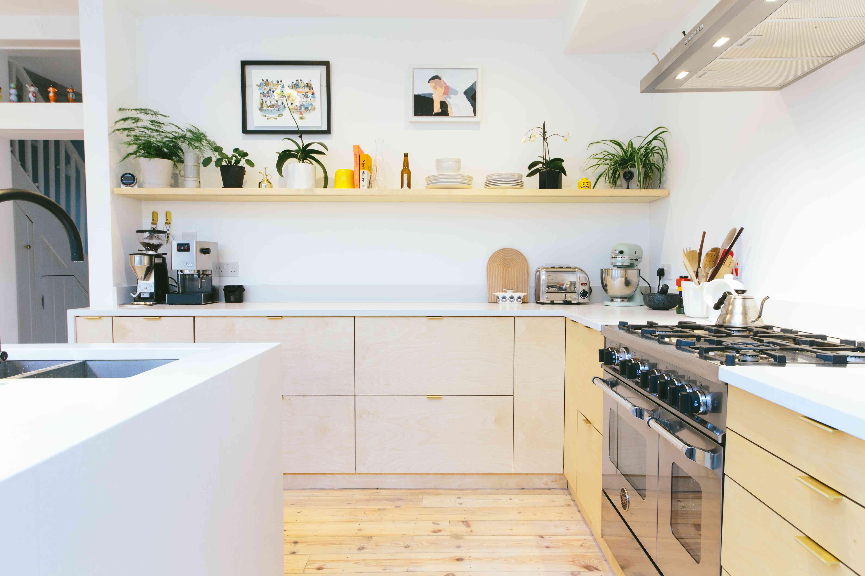 Plykea kitchen cabinets.