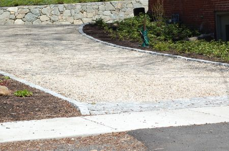 Image of a crushed-stone driveway. - How Much Crushed Stone Do You Need? A Sure-Fire Formula