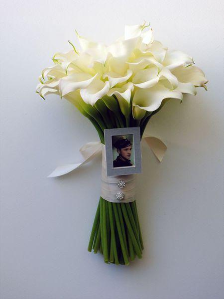 Bridal Bouquet Photo Charm