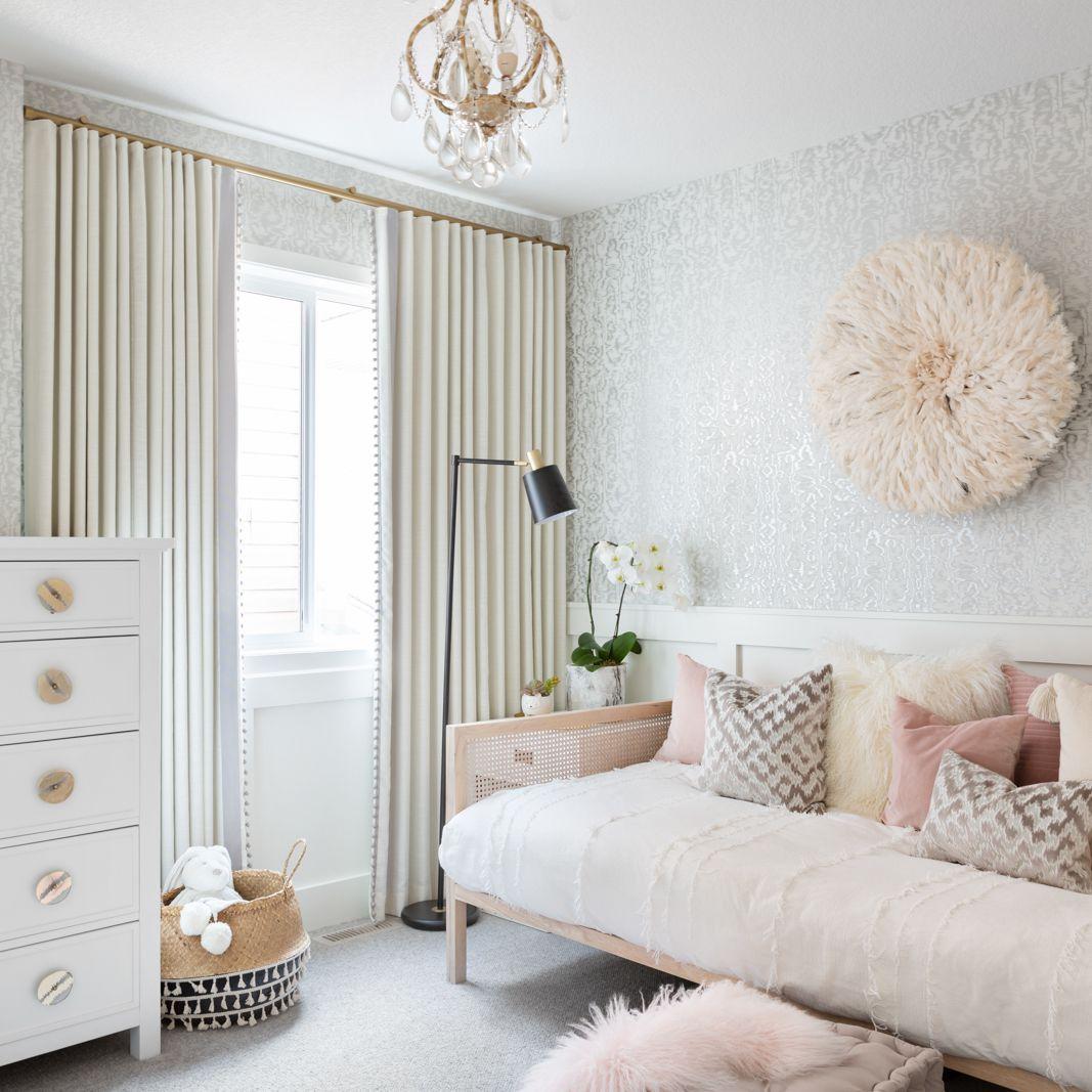 Modern metallic glam girls bedroom