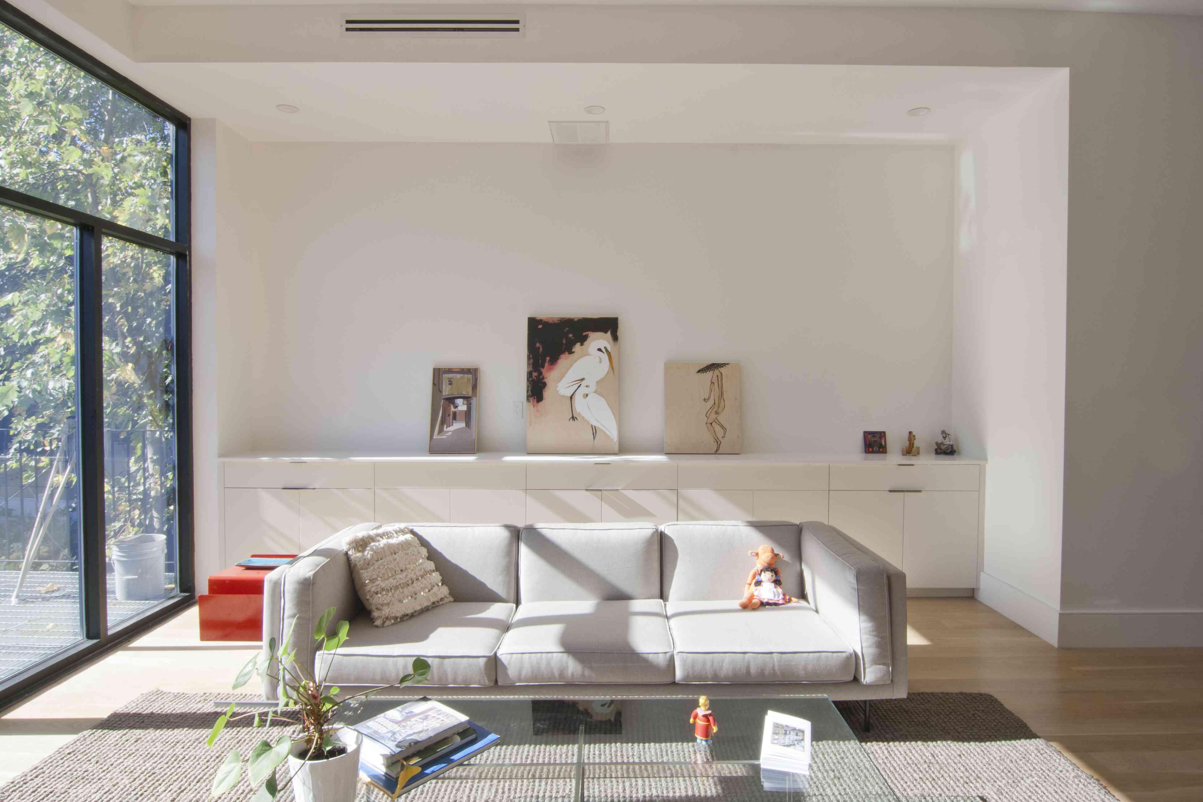 white living room walls