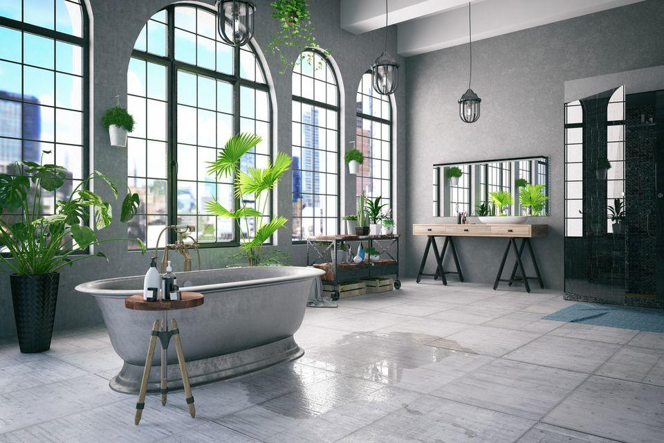 Baño estilo loft