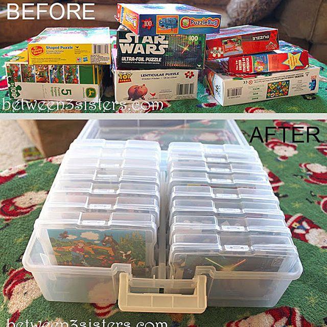 Puzzle storage idea
