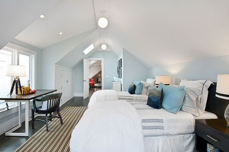 Light Blue Contemporary Bedroom