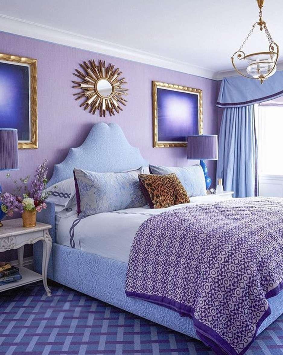 All purple room