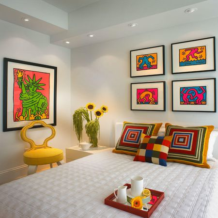 Use Bright Color As An Accent Against White Walls