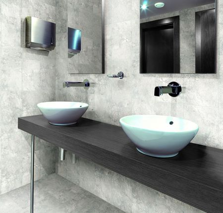 Gray Porcelain Tile For Bathroom Wall And Floor
