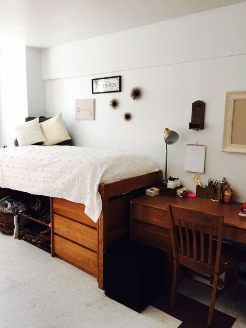Decoración del dormitorio del dormitorio blanco