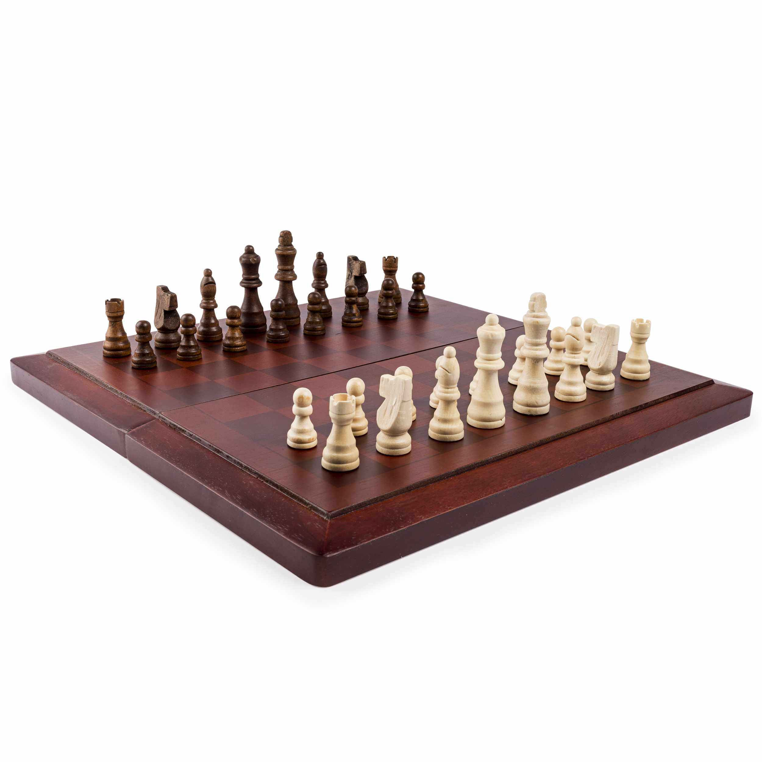 Game Gallery Chess & Checkers Wood Set