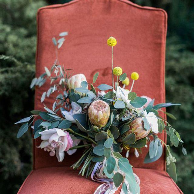 Billy Ball Summer Wedding Bouquet