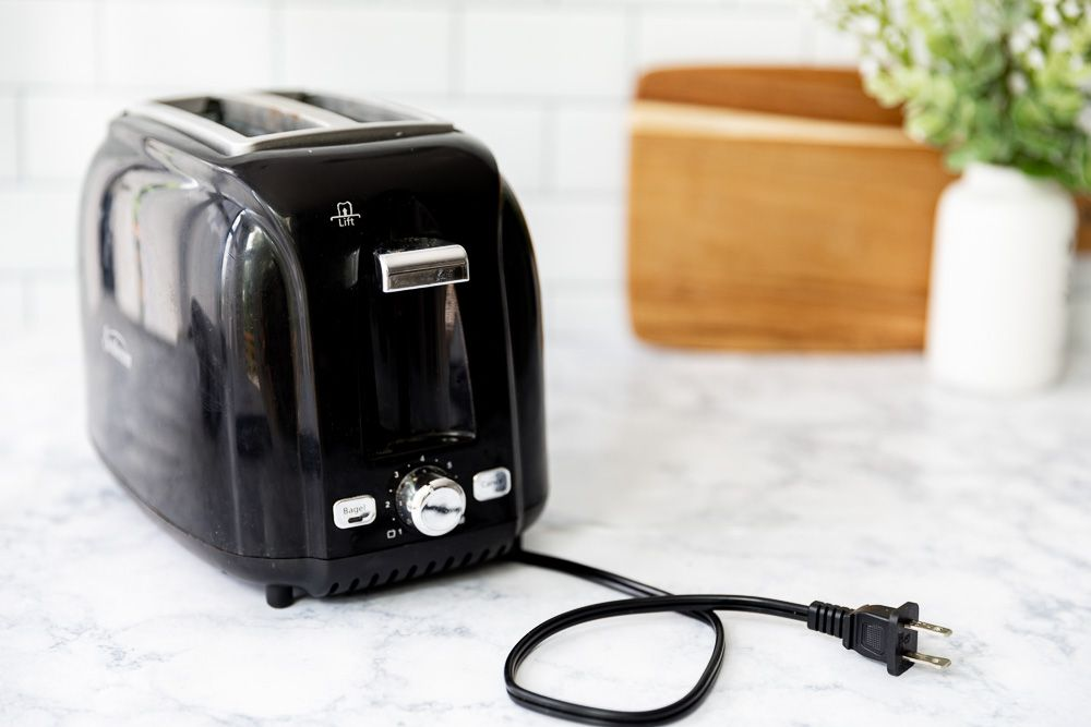 unplugging the toaster