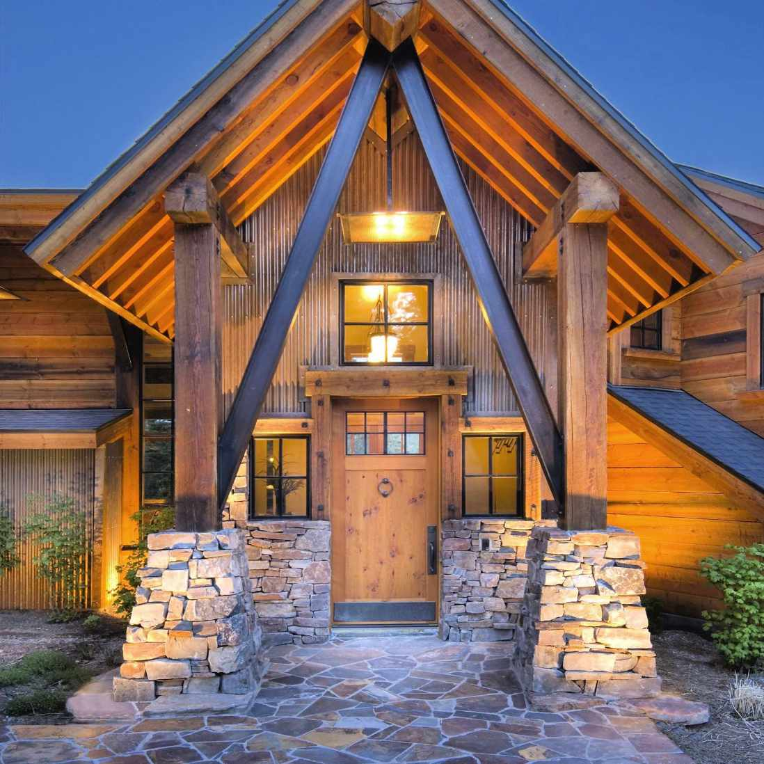 casa de troncos moderna