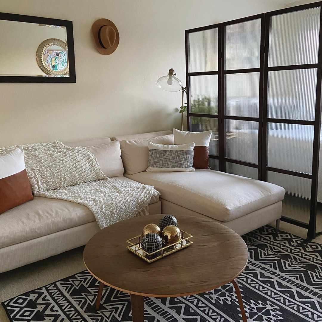 Studio apartment with divider