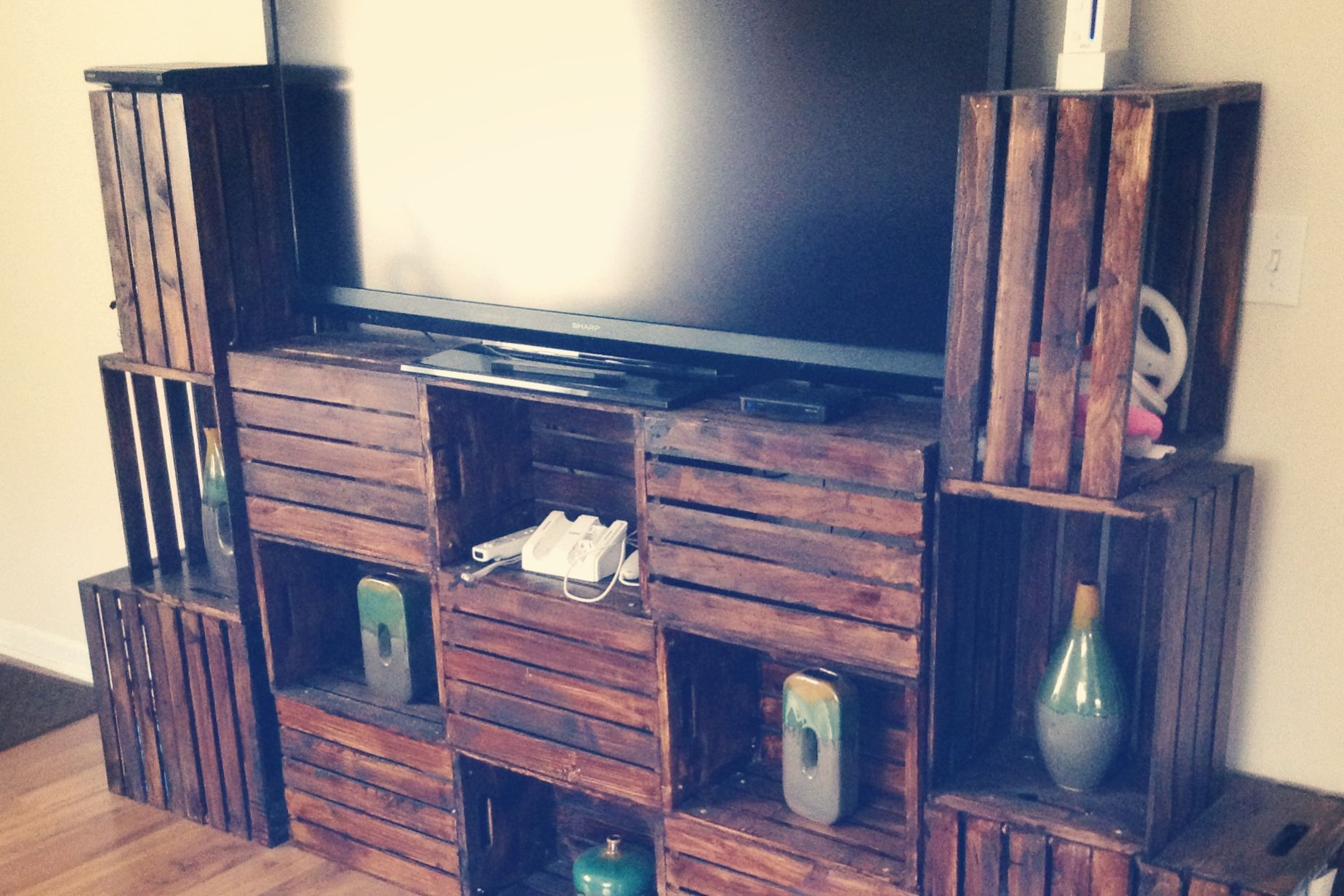 7 Ways To Make Your Own Tv Stand Hide Ugly Cable Boxes And Wires Ikea Hack Home Wiring Cabinet