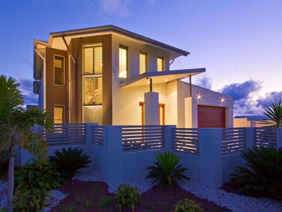 Casa moderna con techo estilo Skillion
