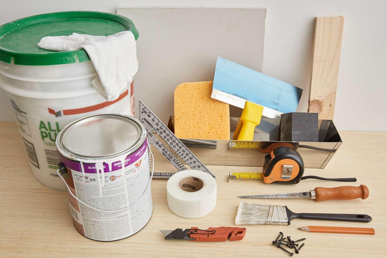 tools for repairing drywall