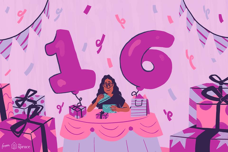 16th birthday party ideas illustration