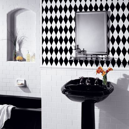 Tile Ideas For Bathrooms - 4x4 almond wall tile