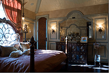 Tuscan Bedroom Designed by Myers Design.