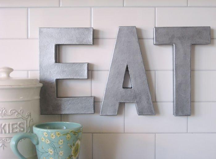 Letrero de zinc para comer