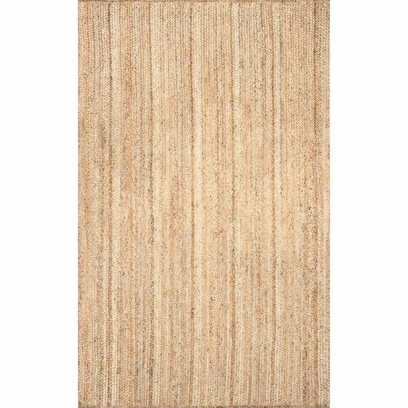 AllModern Hand Braided Jute/Sisal Tan Area Rug