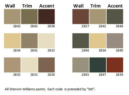 Craftsman House Color Palette